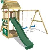 Wickey Smart Shelter Groen - Speeltoestel met houten dak
