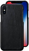 Pierre Cardin echt lederen hardcase hoes iPhone X / XS zwart