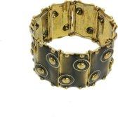 Rekarmband vintage design goudkleurig