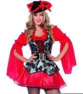Pirate dame rood maat 44