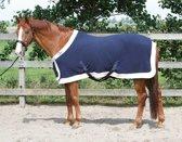 Harrys Horse Fleecedeken Staatsiemodel Borstflap - Navy - 195 cm