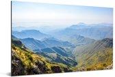 Uitzicht vanaf het Zuid-Afrikaanse Amfitheater Drakensbergen Aluminium 180x120 cm - Foto print op Aluminium (metaal wanddecoratie) XXL / Groot formaat!