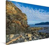 Kust van het Nationaal park Gros Morne op Newfoundland Canvas 60x40 cm - Foto print op Canvas schilderij (Wanddecoratie woonkamer / slaapkamer)