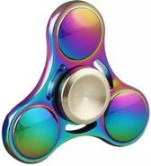 Fidget Spinner In Rainbow Colours Metaal