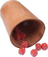 Pokerbeker Leer