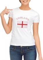 Wit dames t-shirt met vlag van Engeland Xl