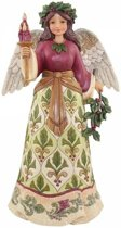 Jim Shore beeldje - Heartwood Creek collectie - Jolly Holly Days (Victorian Angel)