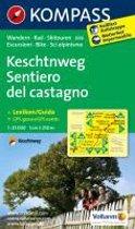 Kompass WK696 Keschtnweg / Sentiero del Castagno