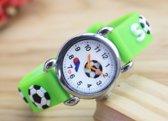 Kinder horloge- Voetbal- lichtgroen