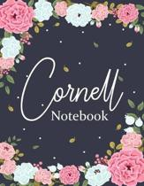 Cornell Notebook: Floral Cornell Notes Notebook - Cornell Note Taking Notebook - Student Notebook For Note Taking - 8.5 x 11 Cornell Jou