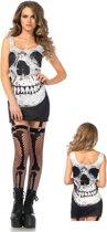 Leg Avenue 'schedel jurkje', Model 86636  maat S/M (zwart/wit)