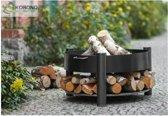 COOKKING vuurschaal met houtvoorraad 70 cm (excl hout) ook geschikt als BBQ