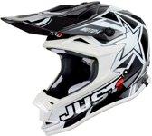 Just1 Kinder Crosshelm J32 Pro Moto X White-M