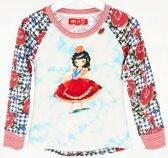 Mim-Pi Meisjes T-Shirt - Rood-Wit-Blauw - Maat 128