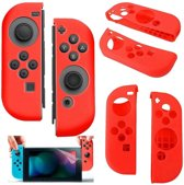 Silicone Anti Slip cover voor Nintendo Switch Controller Rood