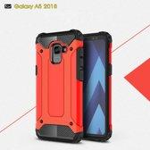 Samsung Galaxy A8 (2018) Armor Hybrid Case - Rood