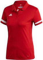 Adidas Team 19 Dames Polo - Voetbalshirts  - rood - S