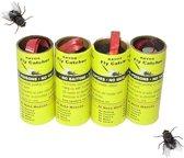Vliegenvangers - Fly Catcher - Vliegenval - Muggenvanger - Muggenval - Plakstrip - Gifvrij - Geurloos - 4 Stuks
