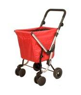 Playmarket Boodschappentrolley We Go Rood 4 wielen - 50 L inhoud