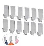 6x Zelfklevende RVS wandhaak, wandhaakje / muur haak / Deurhaak. Handig voor handoek / theedoek. Gemaakt van roestvrijstaal.