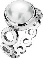 Diamonds & Pearls Wit Circle Ring