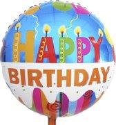 Folie ballon Happy Birthday | 18 inch | 43 cm | Geschikt voor helium en lucht
