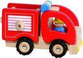 Goki Houten brandweerwagen 16,7 x 9,1 x 10,5 cm