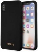 "Guess Silicone Logo HardCase - Apple iPhone X/XS (5.8"") - Zwart"