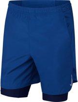Nike Challenger Short 7In 2In1 Sportbroek Heren - Indigo Force/Indigo Force/Blue Void/(Reflective Silv) - Maat L