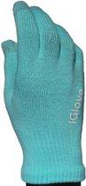 iGlove Touchscreen Handschoenen Cyaan + Cadeauverpakking