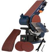 FERM BGM1003 Bandschuurmachine - 375W - 150mm - Verstelbare schuurbandpositie - Incl. 2 schuurbanden en 2 schuurschijven