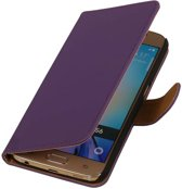 Samsung Galaxy J3 J300F Paars | bookstyle / book case/ wallet case Hoes  | WN™