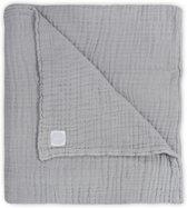 Jollein Deken wrinkled hydrofiel 120x120cm grijs
