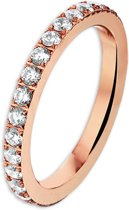 The Jewelry Collection Ring Zirkonia - Staal
