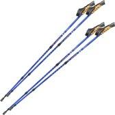 2 paar Nordic walking stokken antishock blauw 401980
