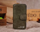 Golden Phoenix Split Leren Wallet iPhone 5(s)/SE - Groen