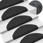 Trapmat trappenmat trapmatten trapbekleding trap set 15 zwart zelfklevend plakmat plakken 54x16x4cm