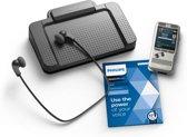 Philips PocketMemo Dicteer- en transcriptieset DPM7700, Stereo, Schuifschakelaar, USB voetpedaal, SpeechExec Dictate/Transcribe 2-jaar licentie