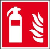 Sticker brandblusser pictogram, ISO 7010, 150 x 150 mm
