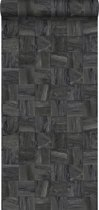 Origin behang sloophout motief zwart