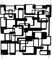 Europalms Room Divider Labyrinth zwart 4x