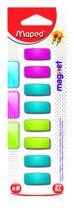 Magneten recht 27 mm - assorti kleuren x 8