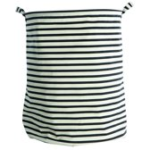 House Doctor Stripes Wasmand/Opbergmand - Streep - Wit/Zwart