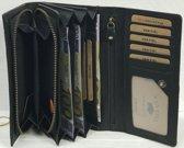 Dames Portemonnee leer RFID Zwart Van Fiel
