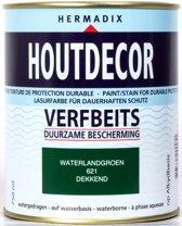 Hermadix Houtdecor  Verfbeits Dekkend - 0,75 liter - 621 Waterland Groen