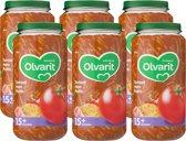 Olvarit 15 maanden - tomaat ham pasta - 6x250g