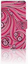 Sony Xperia XZ1 Boekhoesje Swirl Pink