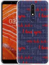 Nokia 3.1 Plus Hoesje I Love you