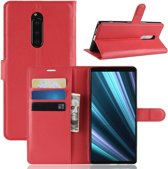 Hoesje voor Sony Xperia 1, 3-in-1 bookcase, rood
