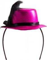 Metallic roze mini hoedje